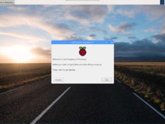 Accueil raspberry desktop