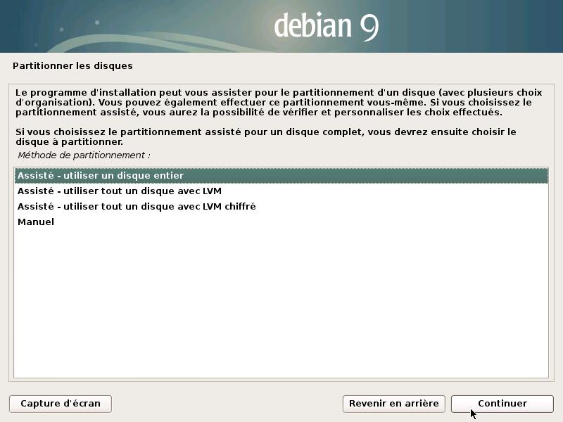 Configuration des partitions