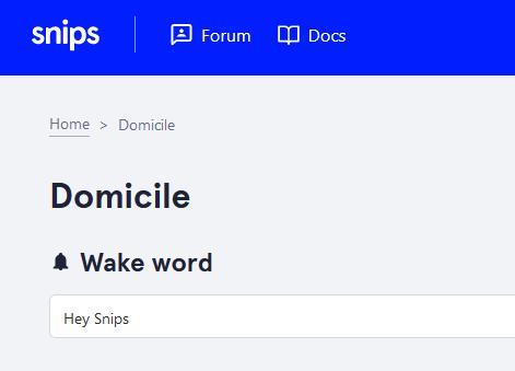 Wake word dans la console